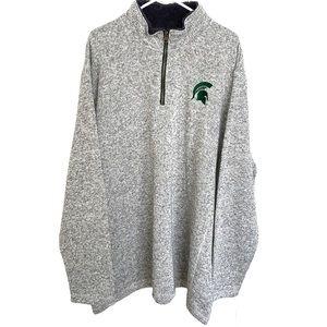 Michigan State 1/4 Zip Sweater